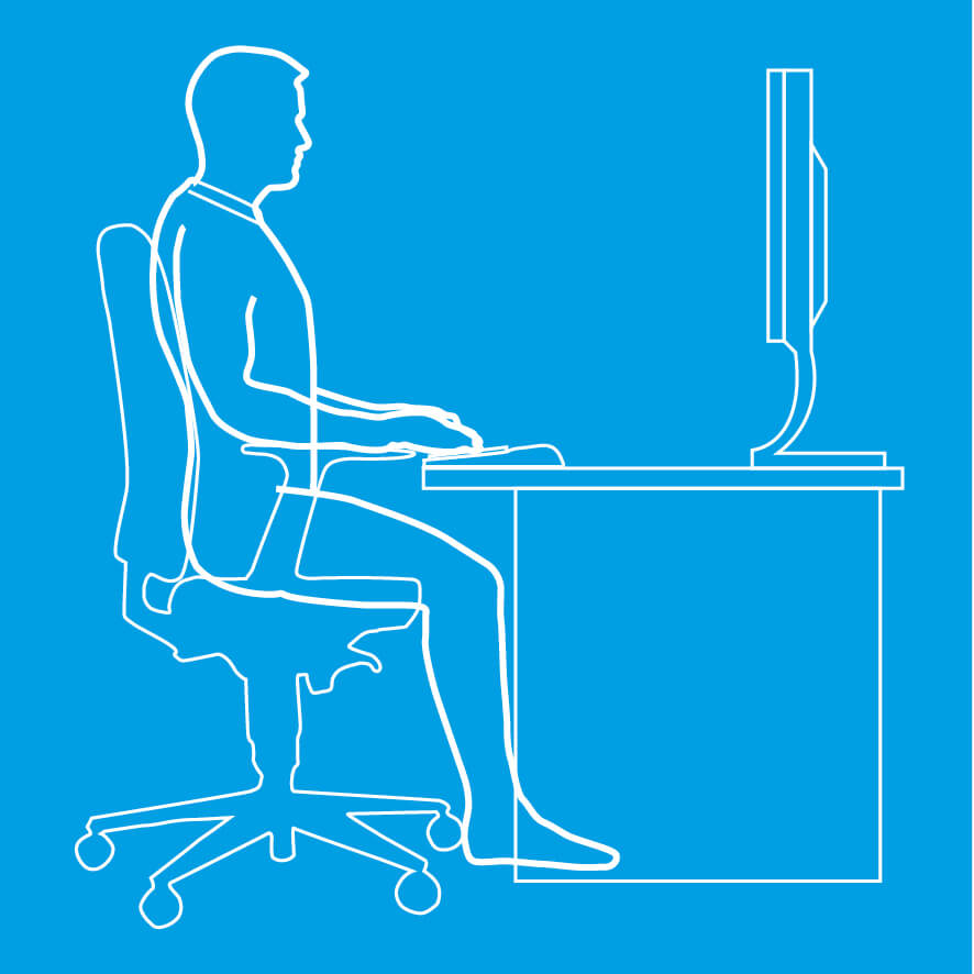 An image of a person sitting at a desk