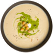 Chickpea and garlic soup
