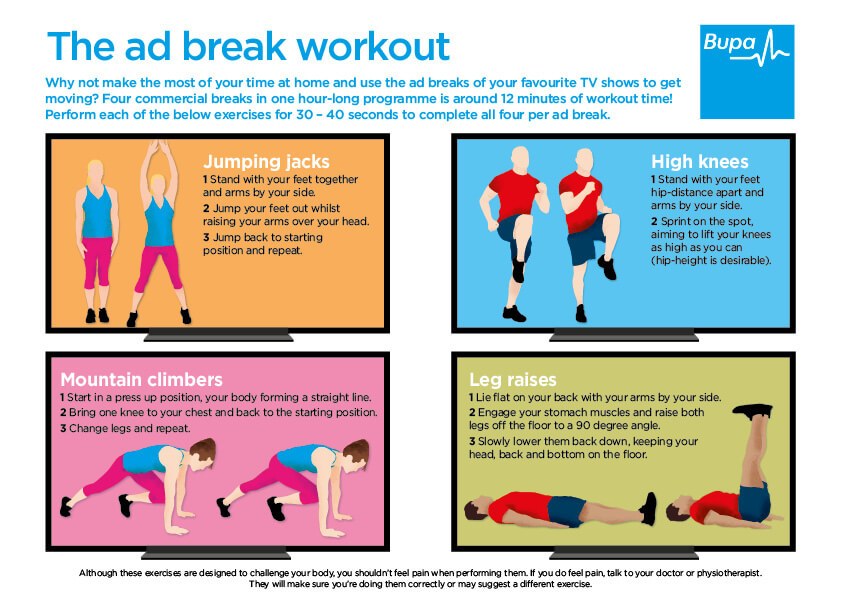 Bupa's ad break work out