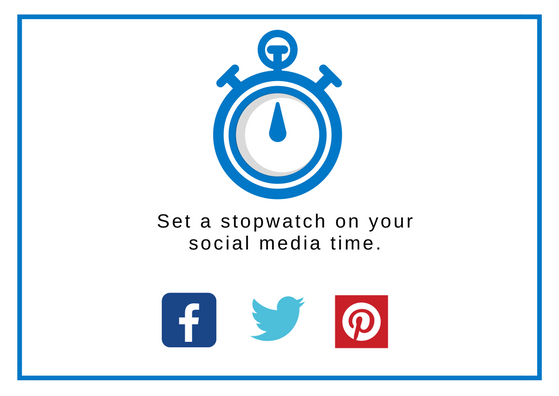 An image showing a stopwatch and social media icons