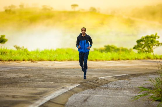 Image of a man jogging