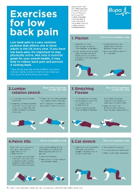 Exercises for low back pain by Bupa UK