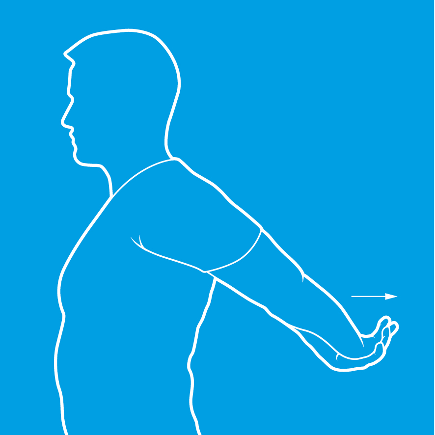 An image of a person doing a shoulder stretch